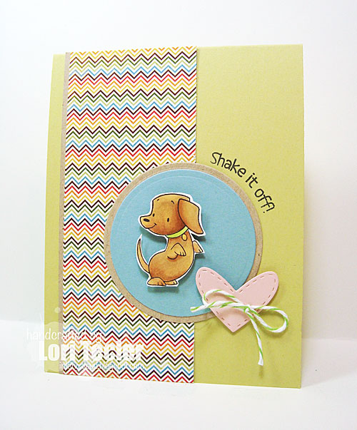Shake it Off card-designed by Lori Tecler/Inking Aloud-stamps from SugarPea Designs