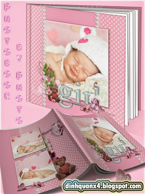 Photobook for a newborn girl - I'll give you daughter