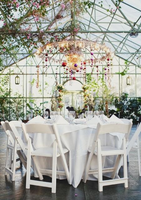 boda en invernadero