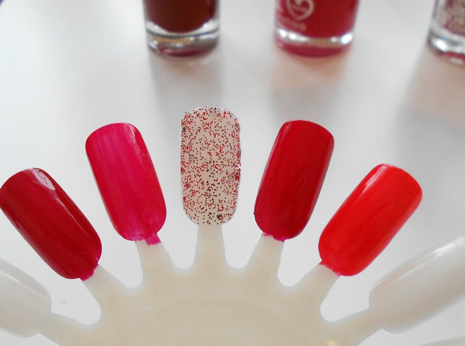 red nail polish swatch nyc bourjois rimmel maybelline barry m