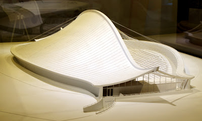 Eero Saarinen at MODA | Yale Hockey Rink (model)