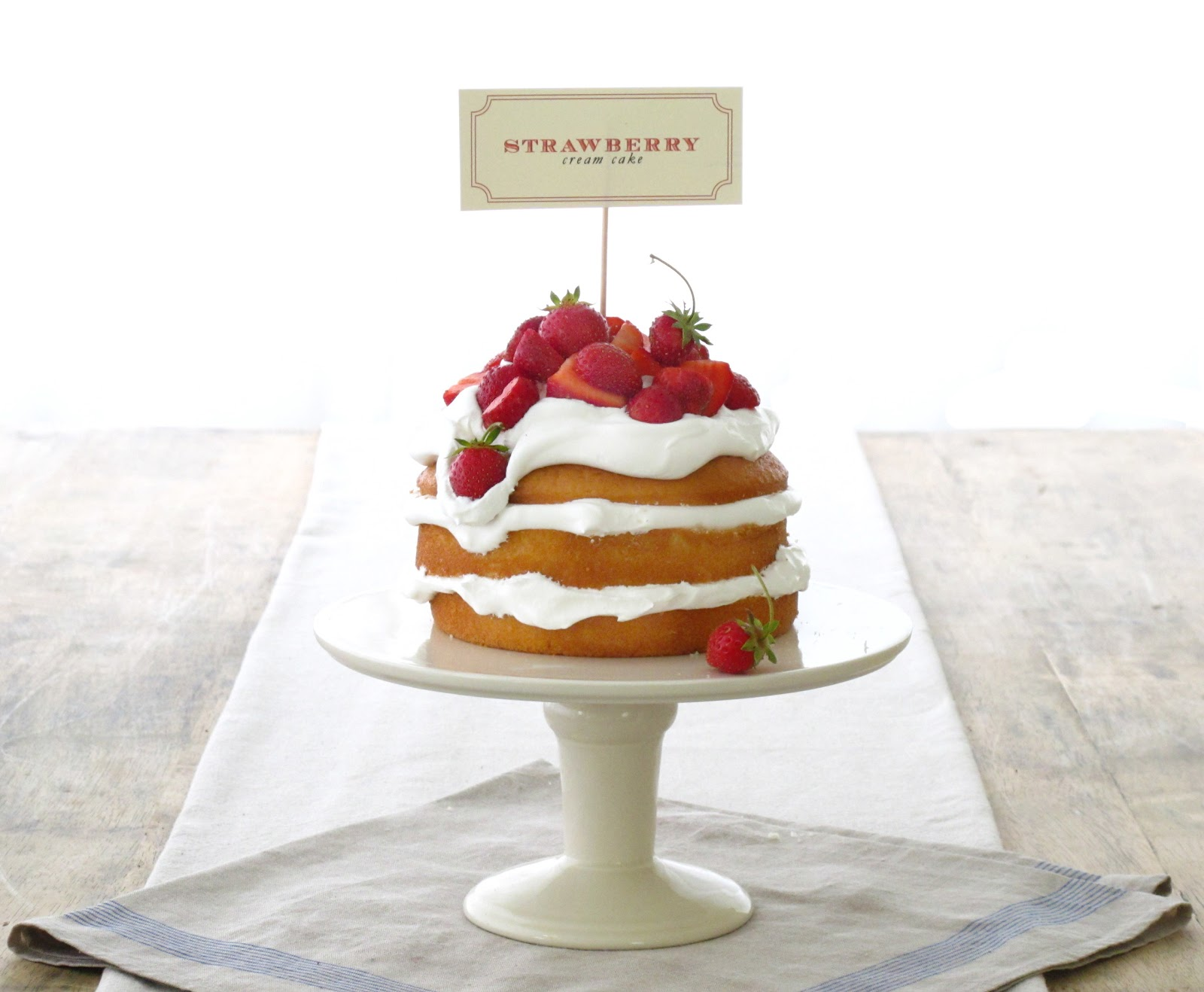 Jenny Steffens Hobick: Strawberry Cream Cake | 4th of July Dessert ...