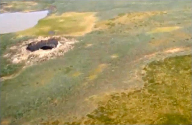 A Dramatic 260 Foot Crater Has Mysteriously Appeared In Siberia