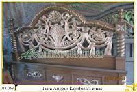 Tempat tidur ukiran kayu jati Tiara Anggur Kombinasi Emas