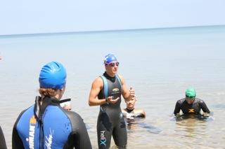 Open Water Clinic in Lake Michigan