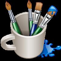 Criar logotipo: Pincéis em uma xícara