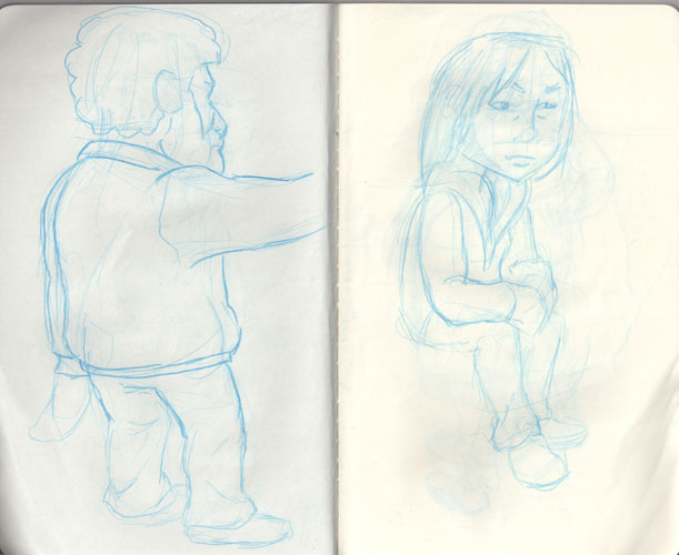 An aspiring animators sketch book