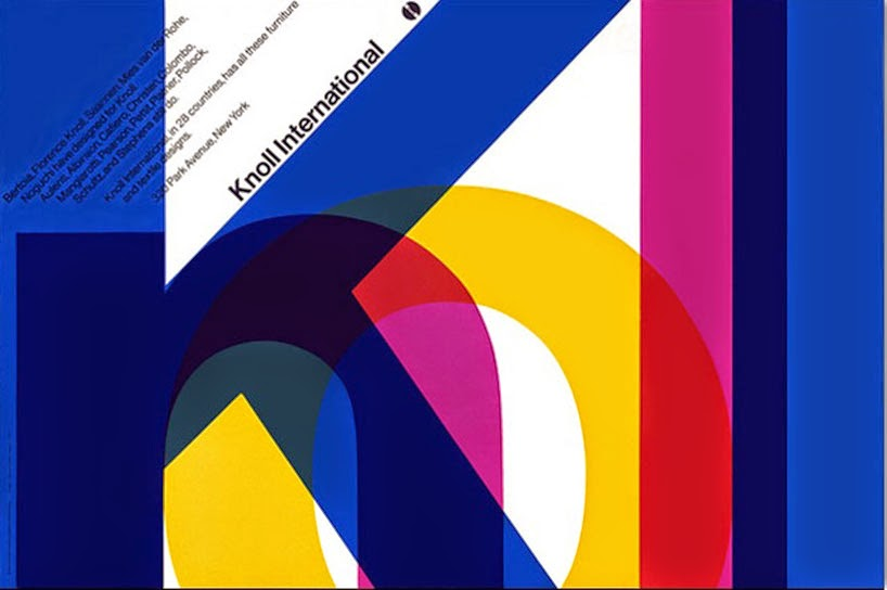 knoll international poster by vignelli associates, 1966