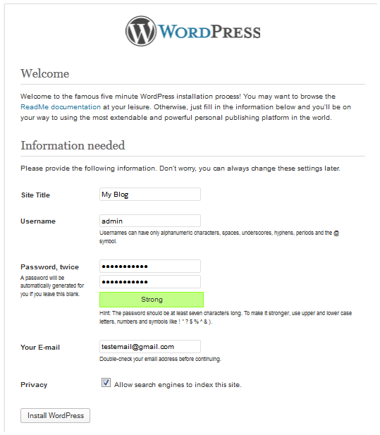 how to use wordpress themes in localhost