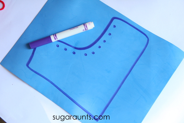 scissor skill craft shoe craft