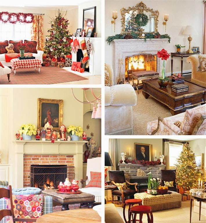 Mantel christmas decorating ideas for Ideas for decorating my home for christmas