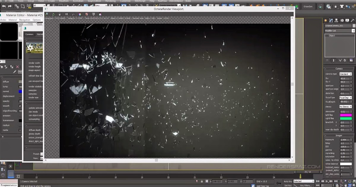 Creating Explosive Glass In 3ds Max And Octane Render Cg