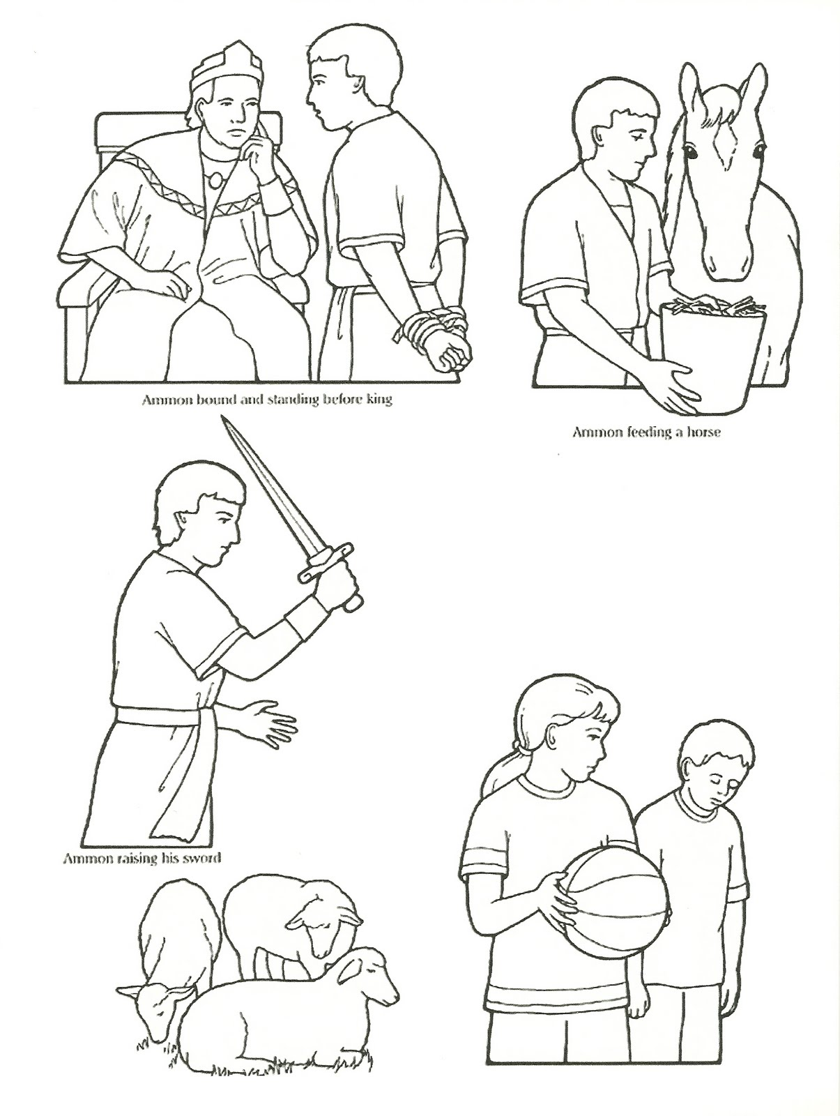 Lds Primary Lesson Coloring Pages Sketch Coloring Page