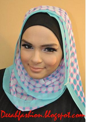Tips Jilbab Untuk Dahi lebar Nonong