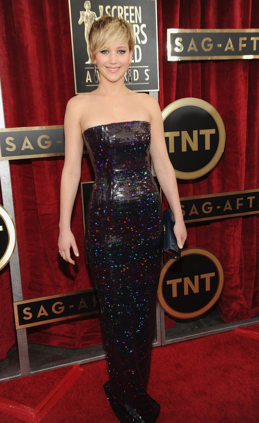 Jennifer Lawrence in Dior at the SAG Awards