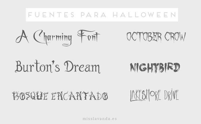 fuentes halloween