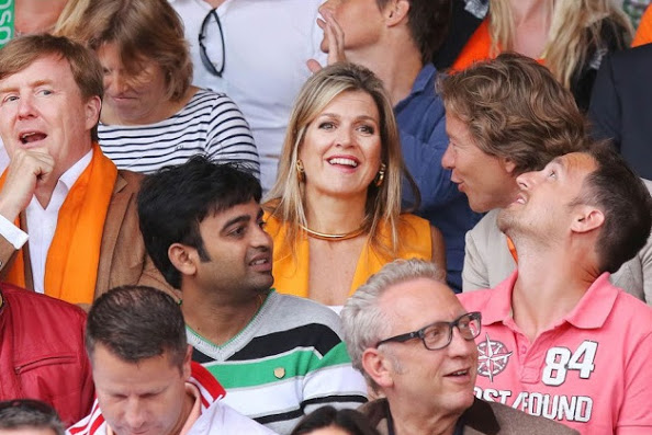 King Willem-Alexander And Queen Maxima At The Beach VolleyBall Finals