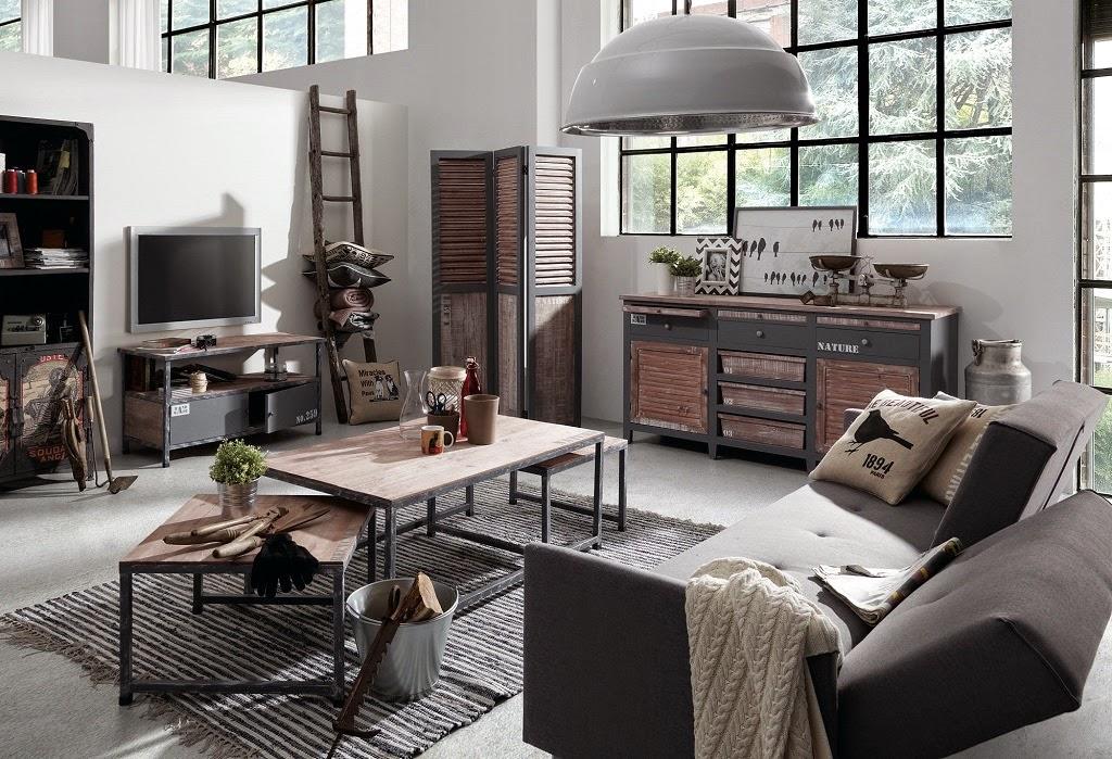 Salas inspira o design estilo industrial decora o e - Mobiliario vintage industrial ...