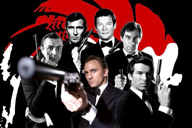 James Bond, Sean Connery, George Lazenby, Roger Moore, Timothy Dalton, Pierce Brosnan, Daniel Craig, 007, tapandaola111