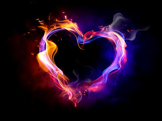 heart flames 3d wallpaper for desktop