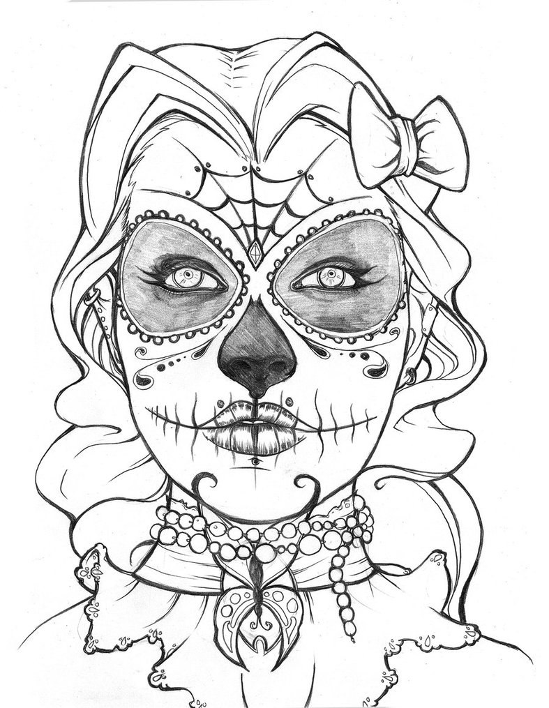 dibujos dia de muertos: