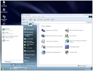 Mengubah theme (tampilan) windows XP menjadi Windows 7 menggunakan Seven Transformation Pack