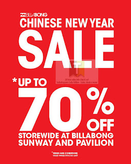 Billabong Chinese New Year Sale 2013