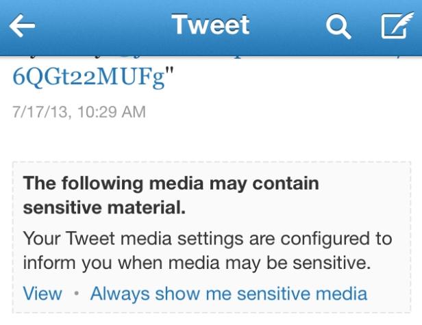 Twitter Violenza Contenuti Sensibili Adulti