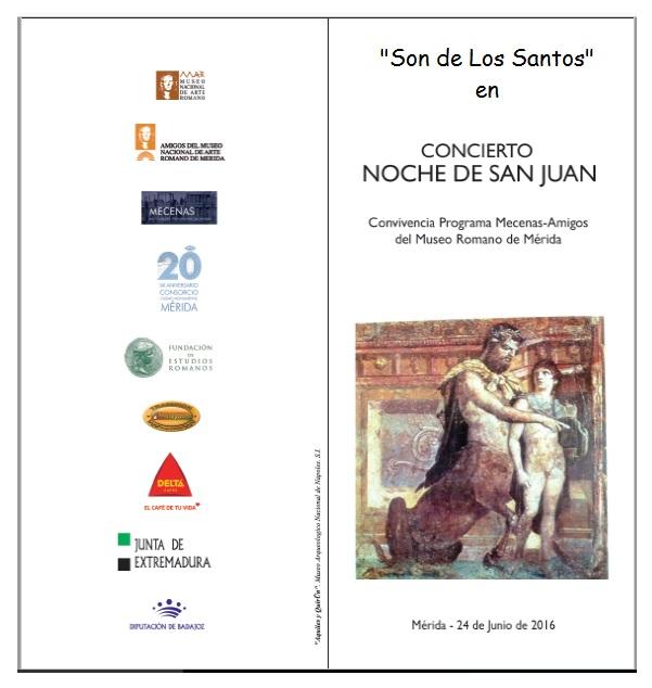 Concierto en el Museo de Arte Romano en Mérida, 24 e junio