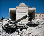 Damaged The Great Mosque in Syria