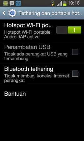 Cara Menjadikan Android sebagai Modem WiFi dan Menghubungkan Ke Laptop