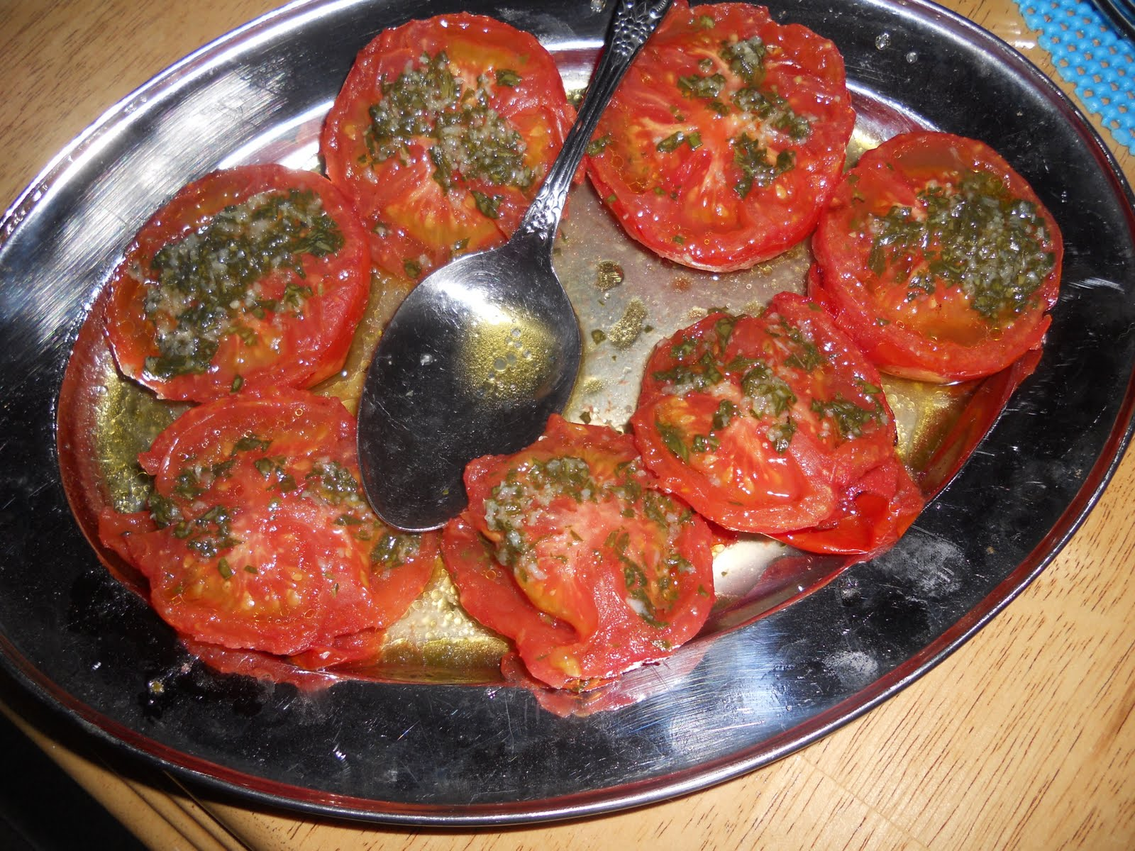 Just One Donna!: Grilled Marinated Tomatoes