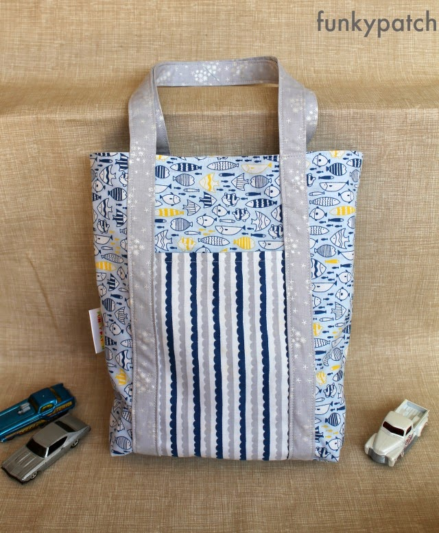 Patchwork de funkypatch tutorial bolso con 3 fat quarters - Labores de patchwork paso a paso ...