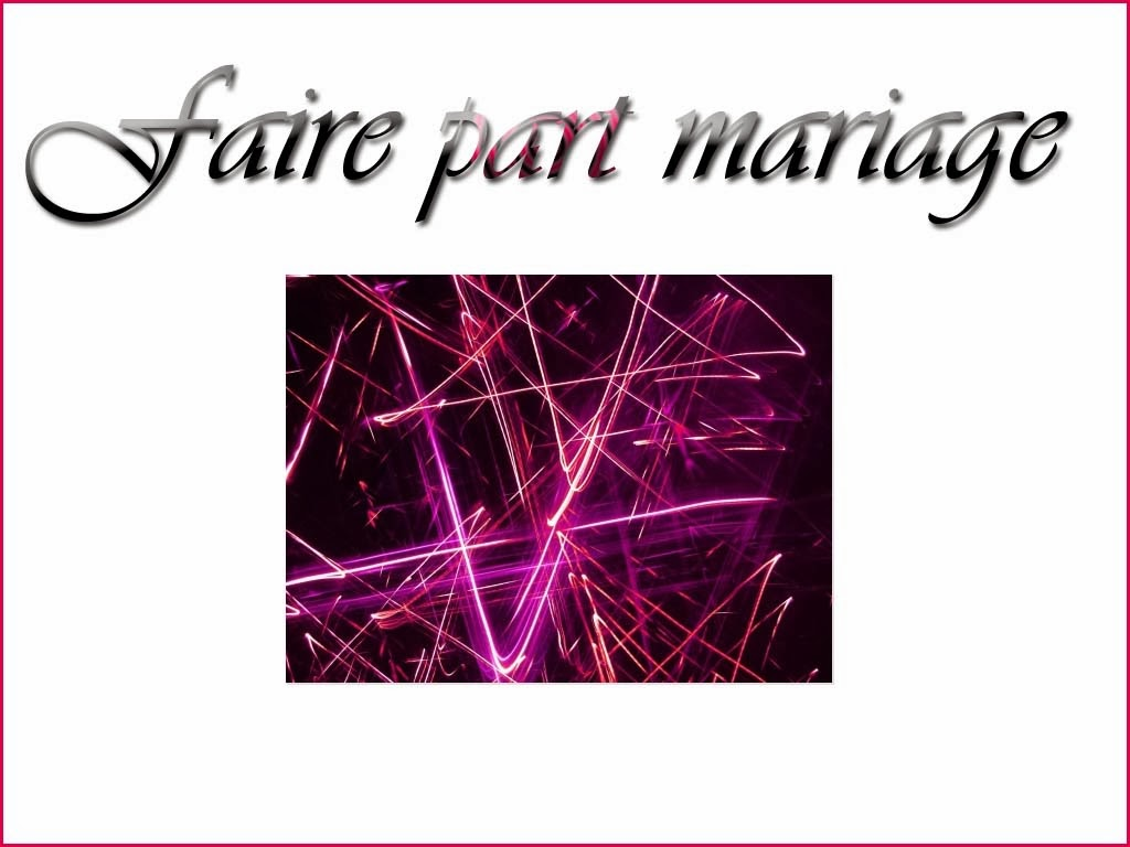 Faire part mariage cinema
