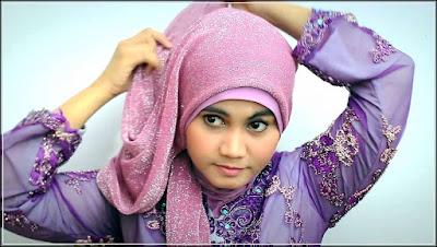 Model jilbab untuk pesta