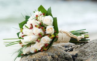 Bouquet White Roses HD Wallpaper