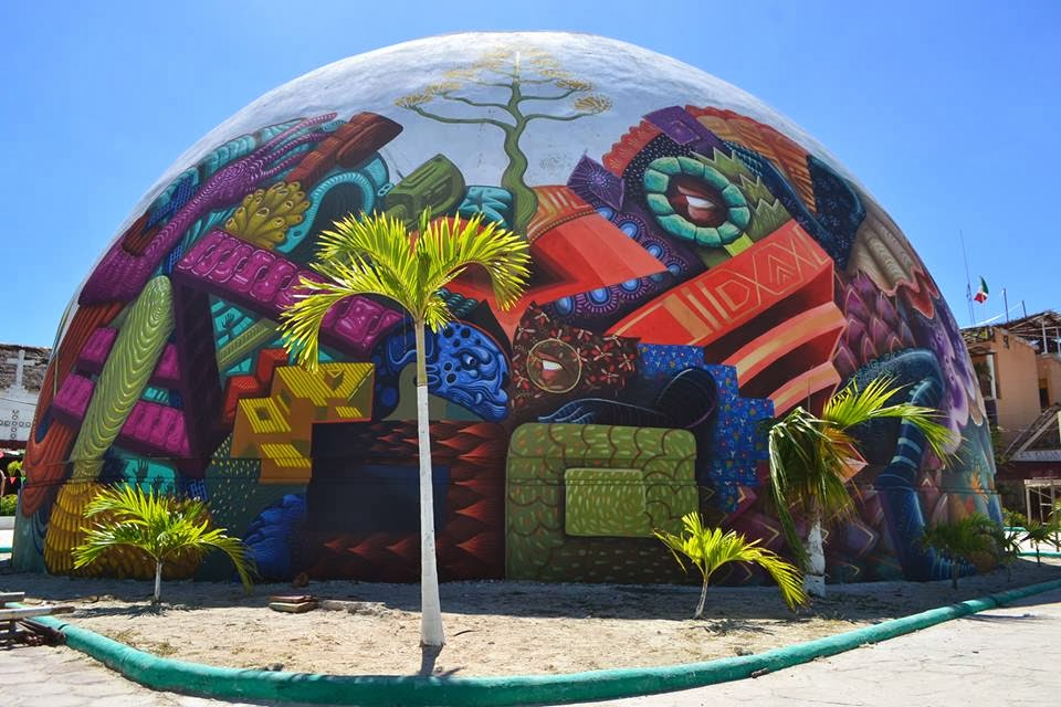 Curiot and Jason Botkin were recently invited in Mexico to paint this new piece for the IPAF on the island of Holbox, a true Caribbean treasure, located in the northern part of the Yucatan Peninsula.