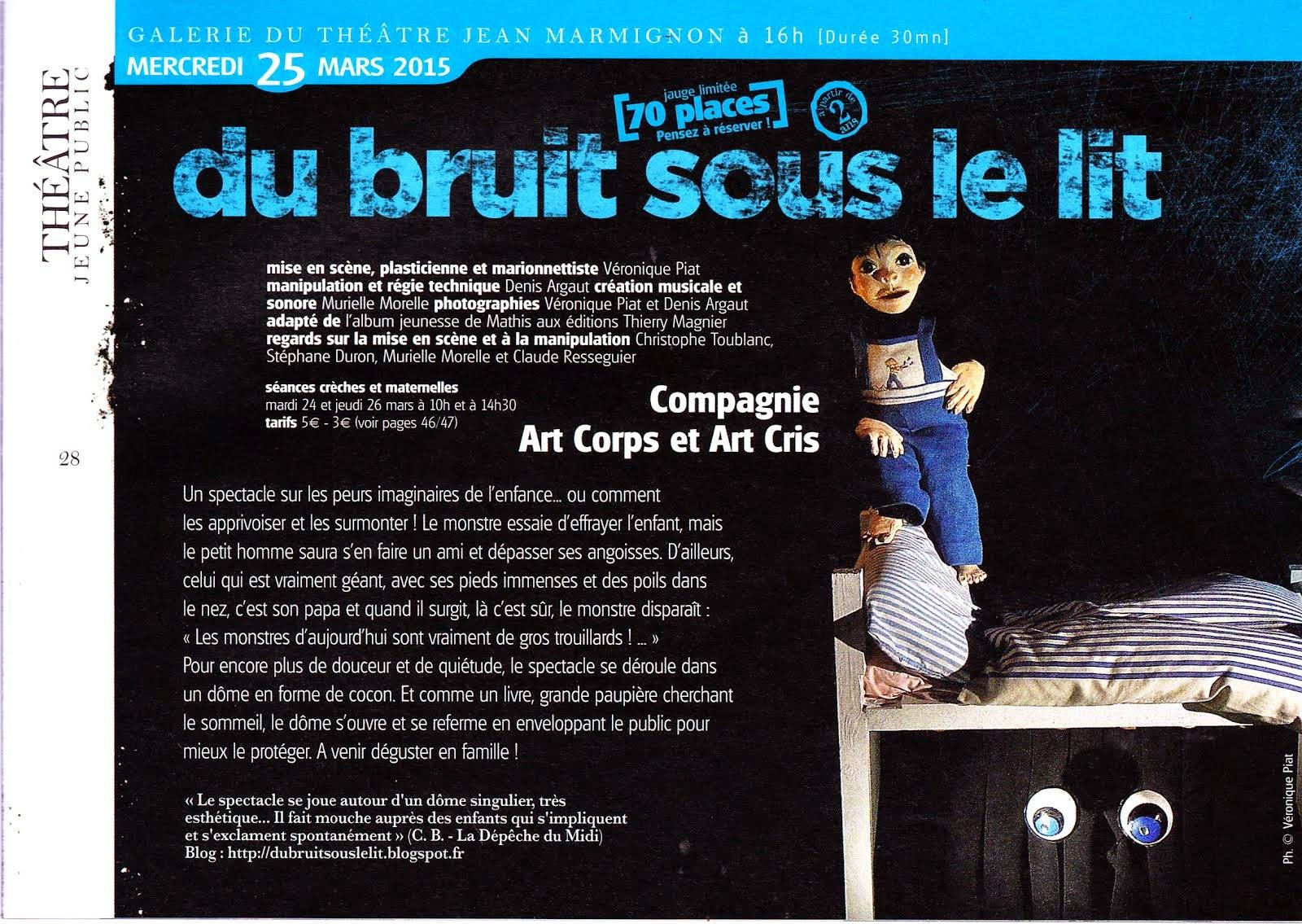 Programmation au théâtre Jean-Marmignon de Saint Gaudens les 24, 25, 26  mars