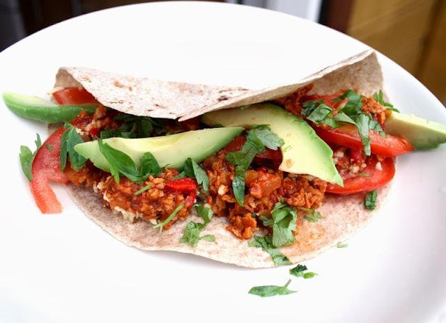 Oppskrift Hjemmelaget Tacofyll Tortilla Chiligryte Vegansk Taco Vegetartaco Soyamince