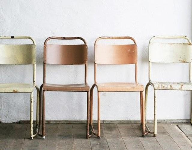 chaises vintage fer
