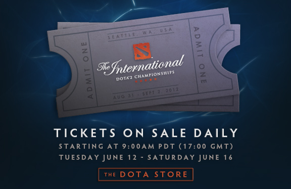 The International 2012 tickets