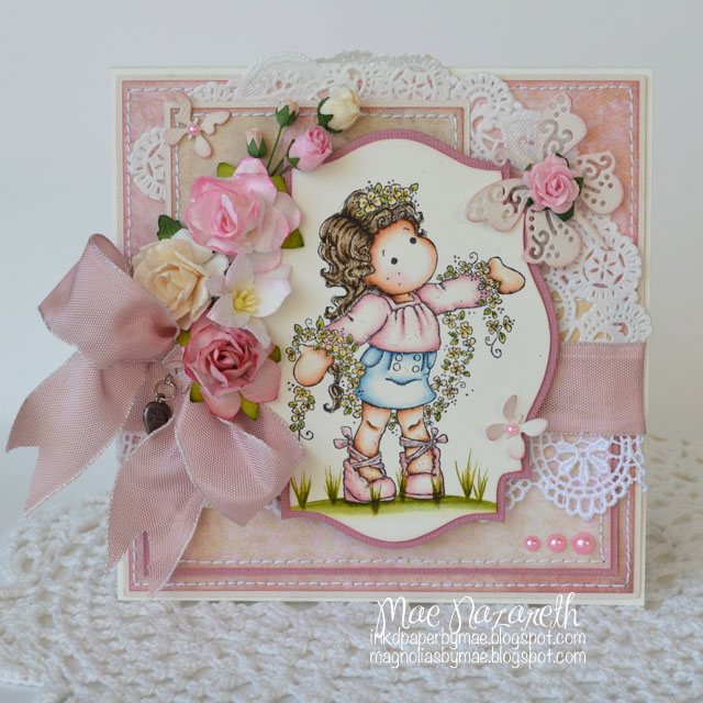 card for my butterflies i used magnolia doohickey swirly butterfly