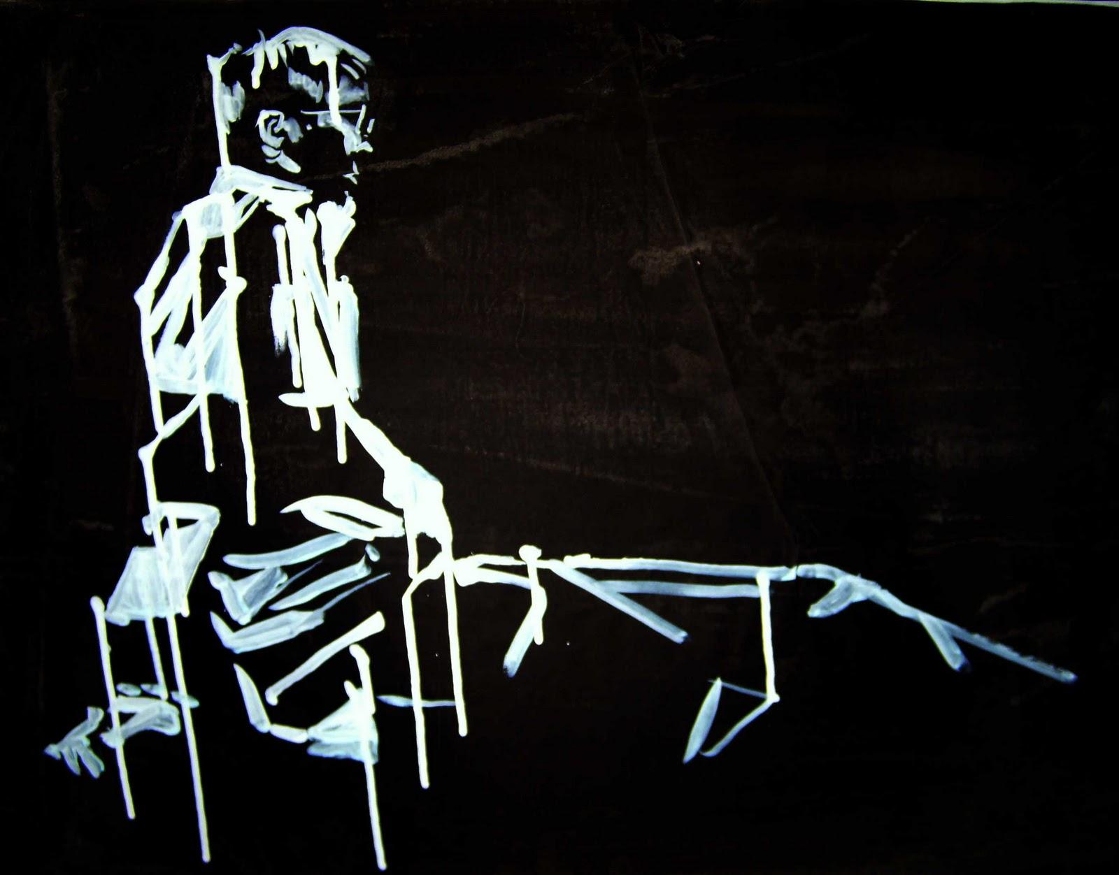 peinture noire  illustration  croquis