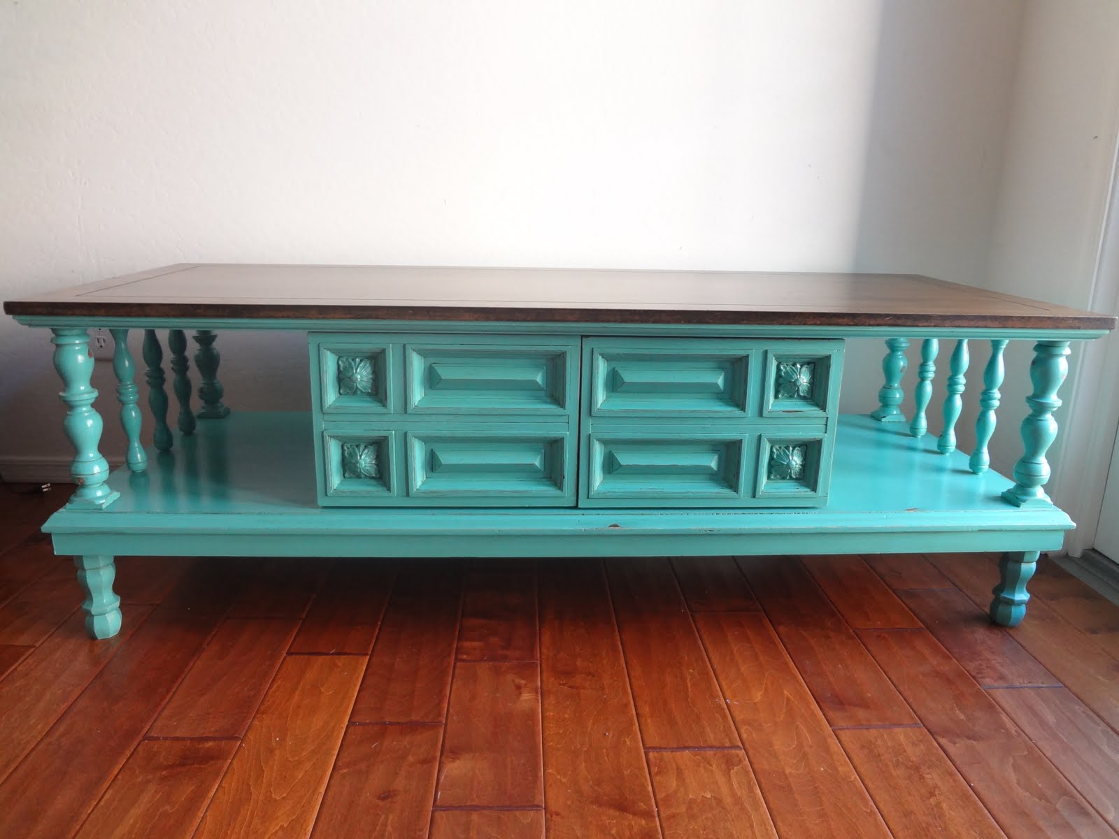 chichi vintage turquoise vintage coffee table