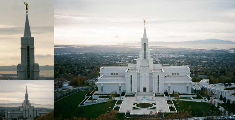 Bountiful Utah TEmple, October 27, 1998