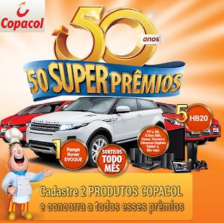 Como faço participar promoção Copacol 2013 50 anos?