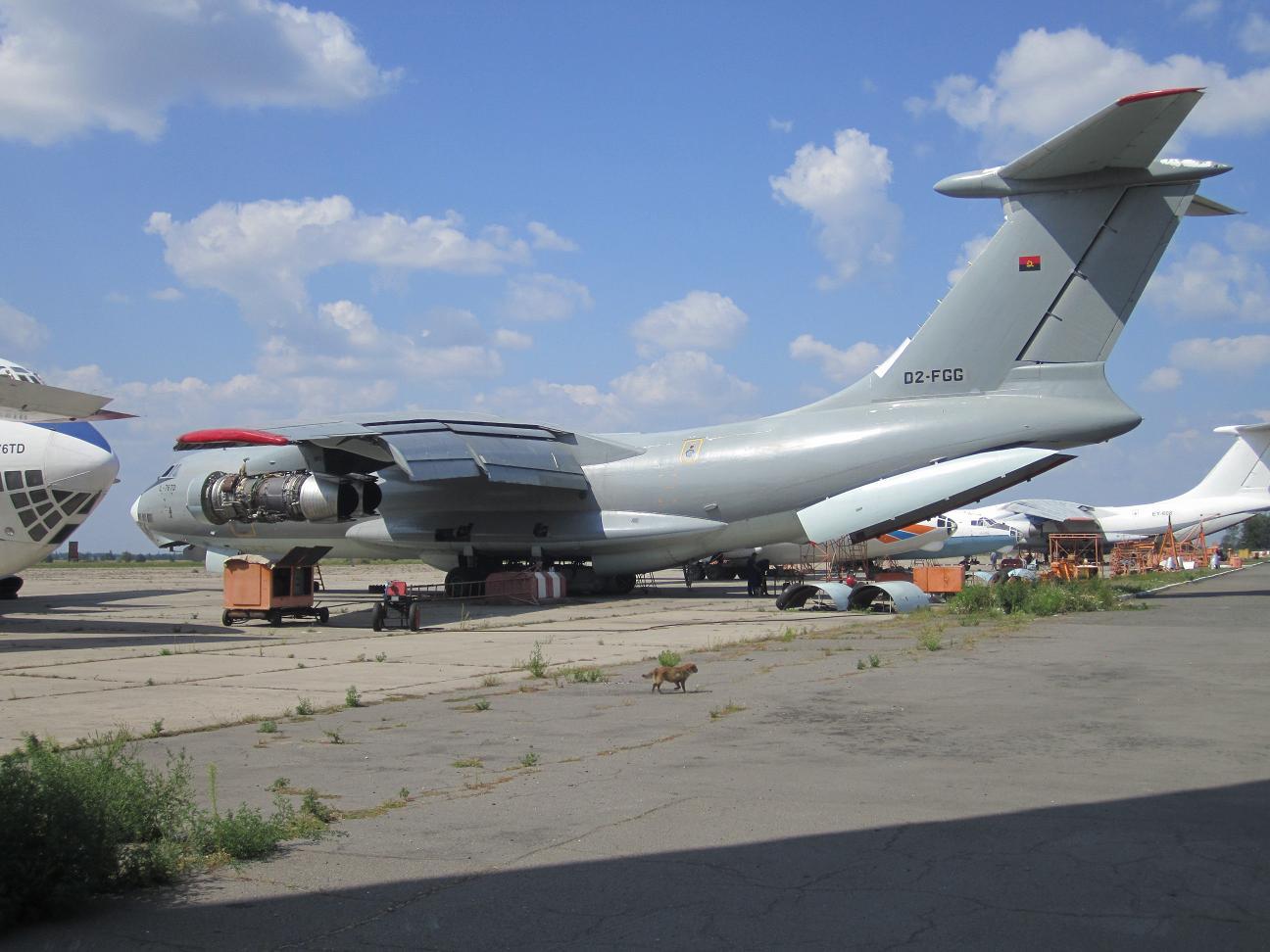 Angola ANGOLA+IL-76+D2-FGG+MANTENIMIENTO