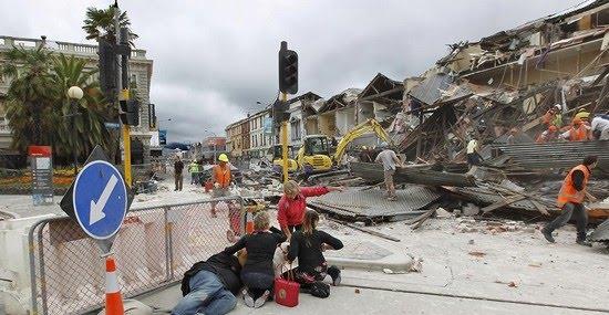 Earthquake In Christchurch Images. an immense earthquake hit