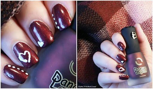 Quick & Easy Valentines Day Nail Art with Dance Legend Velvet No. 641