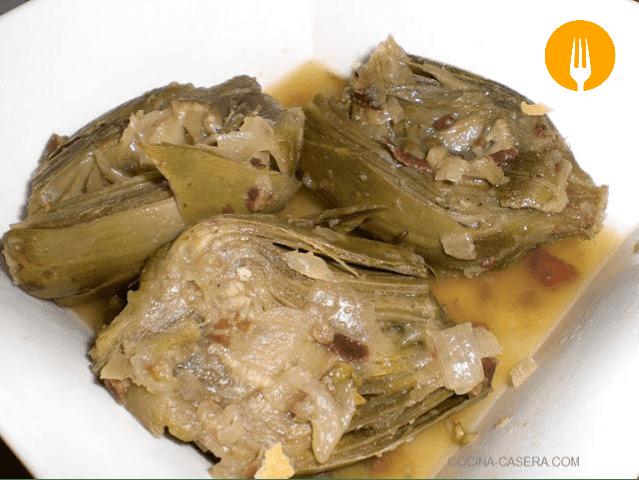 receta alcachofas guisadas jamon
